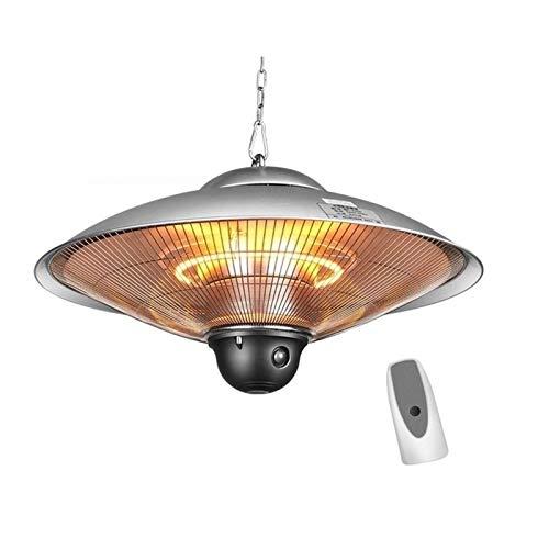 YXFW Colgando del Calentador eléctrico, Techo Calentador de Patio, Interior/Exterior halógeno Calentador, for jardín al Aire Libre Parasol (con Control Remoto) (Size : 2200W)