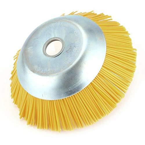 Schüssel Typ Mechinery kreissäge Durable Nylon Draht Jäten Bürste Draht Rad Werkzeuge Zubehör Industriebürste NEU