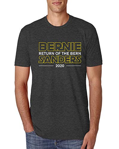 Bernie Sanders Return of The Bern 2020 Election Movie Logo Parody   Mens Pop Culture Premium Tri Blend T-Shirt, Vintage Black, Medium