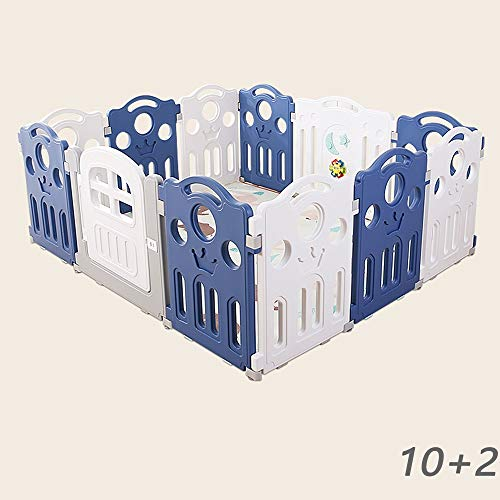 Great Deal! ZQY Baby Play Fence Portable Game Center with Door for Baby Infant Large Indoor and Outd...