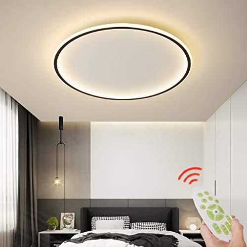LED Deckenleuchte Moderne Dimmbare Wohnzimmerlampe Ring Designer Deckenlampe Mit Fernbedienung Deckenlampe Metall Acryl Beleuchtung Schlafzimmer Küche Esszimmer Lichter,60cm,Steplessdimming