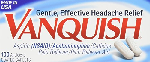 Vanquish Extra Strength Pain Reliever Caplets-100 ct. (Pack of 3)