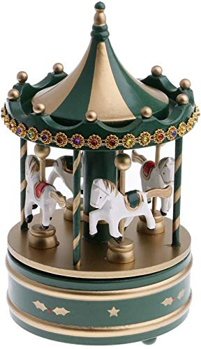 HYLL Madera de Juguete de Regalo del carrusel Caja de música - Tiene Grandes atmósferas o Antes paties Duermen Ling, Pantalla decoración de Navidad en el Escritorio