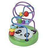 Giocattoli Classici in Legno di Labirinti di Perline Cartone Animato, giocattoli Educativi Prescolari Perline Montagne Russe Colorate per Bambini Tra 1-4 Anni Compleanno Natale Regalo (Panda)