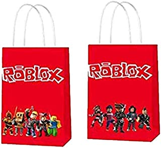 16 PCS Gift Bags for Roblox for Sandbox Video Game Goodie Bags Roblox Party Supplies Roblox Party Bags for Sandbox Video G...