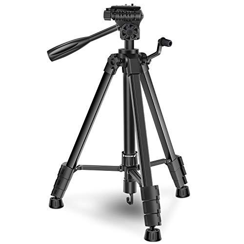 三脚 カメラ ビデオカメラサポート プロ 5段 エレベーター 3Way雲台 水準器付き 1 4ネジ 開脚角度調整可 アルミ合金 一眼レフ ビデオカメラ クイックシュー式 収納バッグ付き 軽量 さんきゃく
