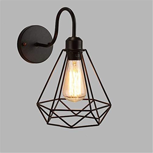 Muur Sconce Lights Iron Black lampenkap Wandlamp Vintage kooi Sconce loft Verlichting Bevestiging Moderne Indoor Verlichting Muur Lampen
