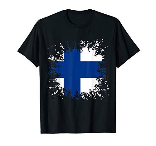 Finnland Flagge Finnische Fahne Shirt Suomi Suomen tasavalta T-Shirt