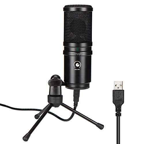 USB Desktop Microphone, Perrycom Computer Cardioid Condenser mic with Tripod stand...