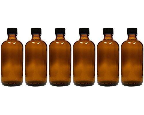 hocz 6 x 100 ml Tropfflasche Glasflaschen mit Tropfeinsatz | Farbe Braunglas | Füllmenge: 100 ml | Apothekerflasche | Dosierung von Flüssigkeiten E-Liquids
