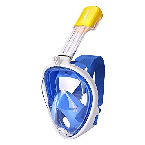 Wityoo Máscara de Snorkel, Máscara Snorkel Máscara para Buceo 180 ° Tecnología Panoránica, Anti-vaho Anti-Fuga, Cara Completa GoPro Compatible para Adultos