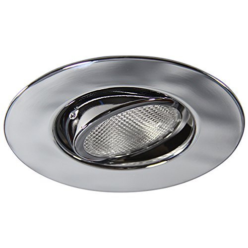 Eco Lighting NY HV6010CH 6-Inch Line Voltage Trim Recessed Light fit Halo/Juno, Adjustable Gimbal Ring Trim, All Chrome