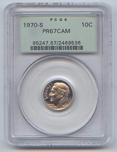 1970 S Proof Roosevelt Dime PR-67 PCGS CAM
