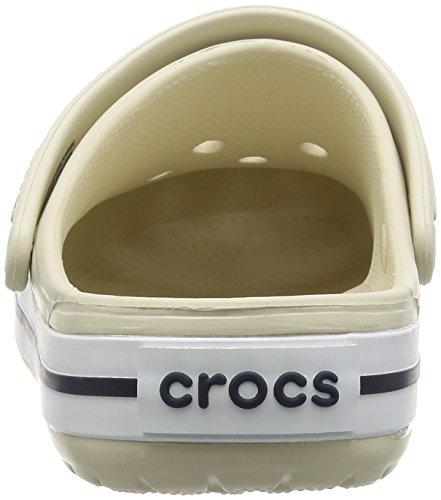 Crocs Crocband Unisex Adulta Zuecos, Blanco (White), 39/40 EU