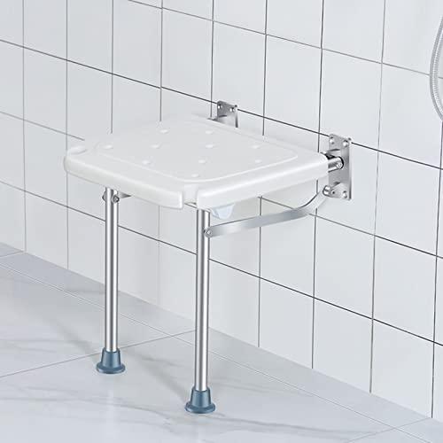 Sedile per Doccia Pieghevole,Sedia per Doccia Chiudibile,Sedia Doccia Disabili e Anziani, 15.7×12.5in(Bianco)
