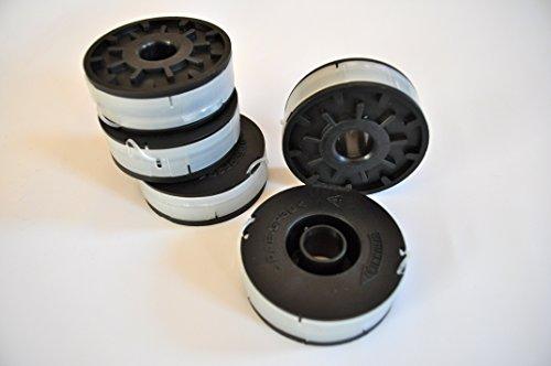 5 Spulen plus 1 Haube passend für Einhell RG ET 7535 +RT 5030 + RT 3110 + ET 500/30, Einhell Blue Line BG-ET 5030 Fadenspule Ersatzspule Trimmerspule Elekro Rasentrimmer
