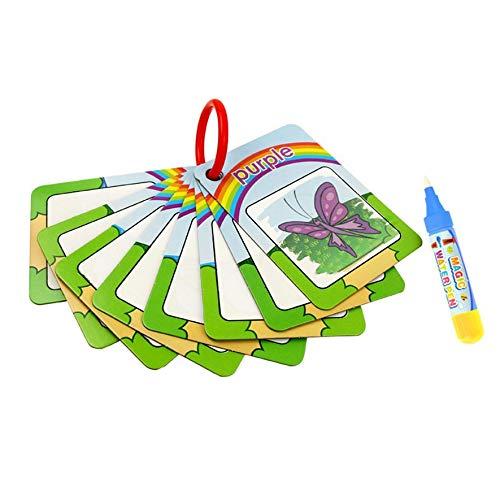 Rouku 8PCS Erkenntnis Grafikkarten Wasser Zeichenkarte Spielzeug Malbuch Kinder Lernspielzeug Geschenk
