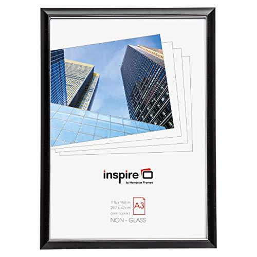Hampton Frames EasyLoader Noir a3 30x42 cm Certificat Photo Cadre sécurité plexi Verre Photo Ouverture easa3bkp