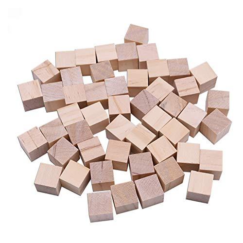 JINSUO NWXZU Unfertiger leerer Mini-DIY-Holz-Quadrat-Blöcke 1/1,5/2 / 2,5 cm Holz-Feste Würfel für Woodwork-Handwerk Puzzle (Size : 20pcs 2cm Cubes)