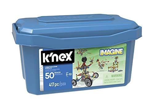 K'nex Imagine - Creation Zone, Juego de Construcción, Baul con 417 piezas, 50 Construcciones Diferentes, +7 años (Ref.41251)