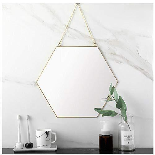 GLJJQMY Espejo de pared, estilo nórdico, geométrico para colgar en la pared, espejo de baño, espejo de pared para baño, Small
