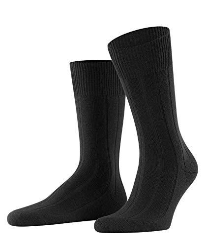 FALKE Herren Socken Lhasa Rib - Merinowoll-/Kaschmirmischung, 1 Paar, Schwarz (Black 3000), Größe: 43-46