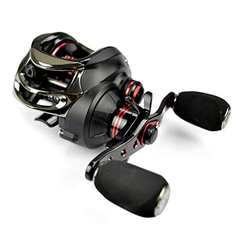 Carrete giratorio 17+1 rodamientos de bolas carrete de pesca 7.0:1 carrete de lanzamiento de cebo para mano izquierda/derecha carrete de pesca lago (tamaño: izquierda; color: C1)