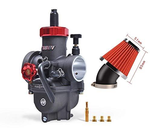 NIBBI Replacement Orginal High Performance Speed Modified Carburetor PE30mm 48mm Air Filter Fit Motorcycle Scooter Atv Dirt bike 180CC-300CC Honda Yamaha Suzuki Kawasaki CG GY6 Engine