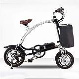 Bicicletas Eléctricas, 12 pulgadas plegable de la energía eléctrica de la bici Assist E-bici 25 kmh 3 Montar Modos de 240w 36v 5.8ah litio-ion bateador puede soportar 150 kg for hombre de la montaña b