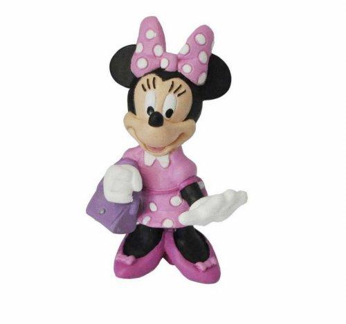 Minnie Mouse- Mickey Mouse Figura Minnie con Bolso, Multicolor (Bullyland 15328)