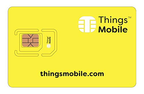 Tarjeta SIM Things Mobile de Prepago para IOT y M2M con Cobertura Global sin costos fijos. Ideal para domótica, rastreadores GPS, telemetría, alarmas, smart city, automotive. Crédito incluido.