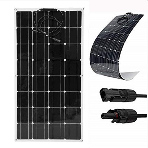 SWEEPID 100W 18V 12V Solarmodul Solarpanel Monokristallin Solarzelle Photovoltaik Solarladegerät Solaranlage Flexibel für Wohnmobil, Auto, Boot 12V Batterien