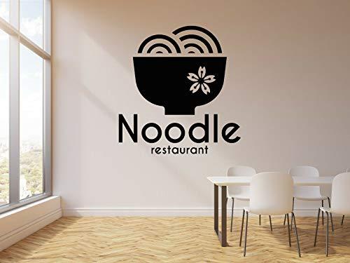 myrockshirt Wandtattoo Aufkleber Orientalische Küche Nudel-Restaurant Asiatische Küche für alle glatten Flächen UV&Waschanlagenfest