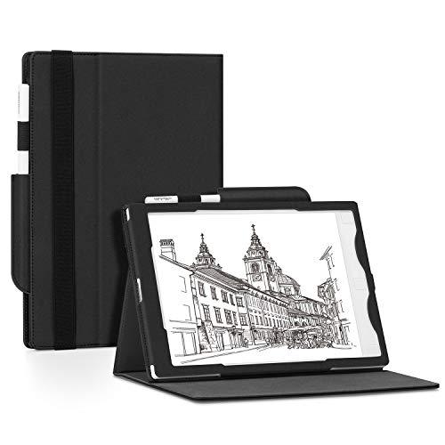 OLAIKE Estuche Plegable para Tableta de Papel de 10,3 Pulgadas, Soporte Plegable de múltiples ángulos, Funda Inteligente con portalápices para Remarkable1, no Apto para Remarkable 2, Negro