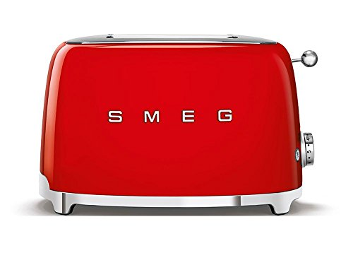SMEG 2 Slice Toaster TSF01 - Red, Standard