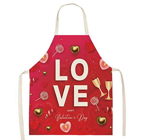 JZZCIDGa Kleidung Personalisierte Backschürzen Lutscher Und Weinglas Weiche Baumwollwäsche Für Frauen Männer - Kochchef Schürze - Ideale Geschenkidee Für Damen