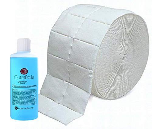 Cleaner 100ml para uñas de gel + 500 Celulosas precortadas