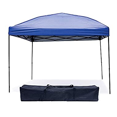 Punchau Pop up Canopy Tent 10 x 10 Feet, Blue - UV Coated, Waterproof Instant Outdoor Party Gazebo Tent