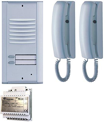 Farfisa 2V Unterputz Türsprechanlage Zweifamilienhaus traditionelle 4+N Verkabelung, 10 W, 240 V
