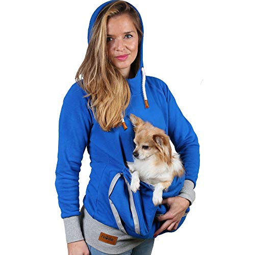 Pet Pouch Hoodie Small Pet Carrier - Dog Cat Pouch Hoodie Sweatshirt Kangaroo Pocket Holder - No...