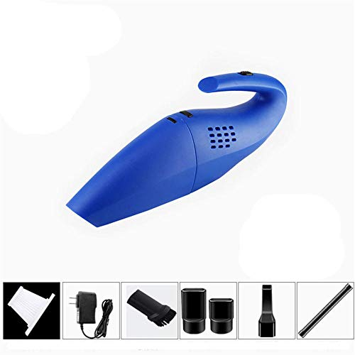 DAFFG Aspiradora de Mano portátil: la aspiradora Seca y húmeda, incluidos los Accesorios, Blue, succión de 4000pa, Batería de Litio 2500 mAh, se Puede Usar Durante Mucho Tiempo después de la Carga