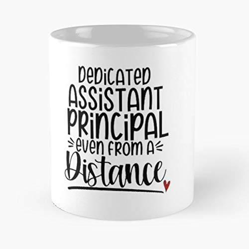 Social Distancing School Assistant Principal Iron On Dedicated Even From Distance Classic Mug - 11,15 Oz.