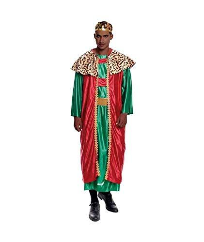 H HANSEL HOME Disfraz Rey Mago Baltasar Adulto - Hombre Vestido para Cosplay/Navidad Size M