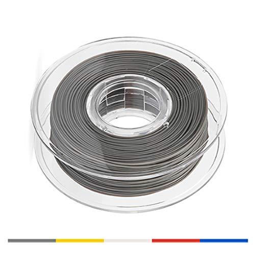 Impresión 3D Filamento, Conveniente for la máquina 3D y 3D Pluma de impresión, 0,5 kg PLA Filamento, 1,75 mm de Alta precisión, los Colores múltiples (Color : Gray)