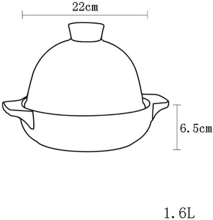 Faitout Avec Couvercle , Pot À Casserole En Céramique À Feu Ouvert Pot À Haute Température Pot À Soupe Santé Casserole Casserole De Grande Capacité 1.6L,B B