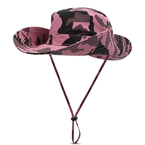 DORRISO Hombres Mujer Sombrero para el Sol UPF 50+ Anti-UV Vacaciones Viaje Playa Gorro de Pesca, Talla única Sombrero