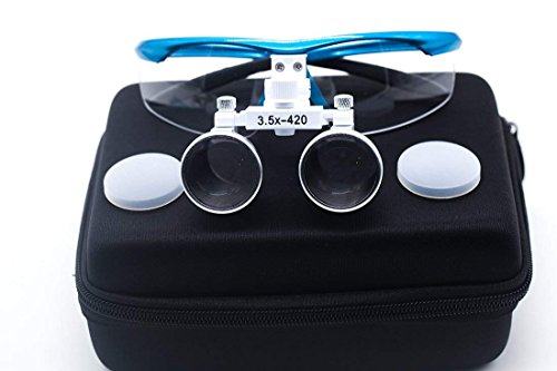BoNew USA Medical Magnification3.5X Surgical Binocular Loupes Optical Glass Loupe Working distance420mm Blue