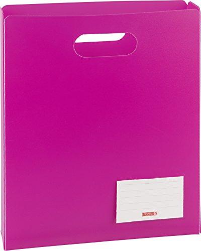 Brunnen 104163526 Heftbox FACT!pp (25 x 31 x 5 cm, aus transluzente PP-Folie für A4 Hefte und Schnellhefter, oben offen) pink