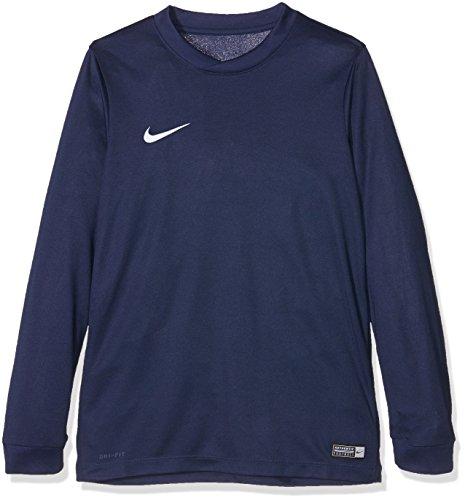 NIKE LS YTH Park Vi JSY Camiseta de Manga Larga, Azul (Midnight Navy/White), L para Niños