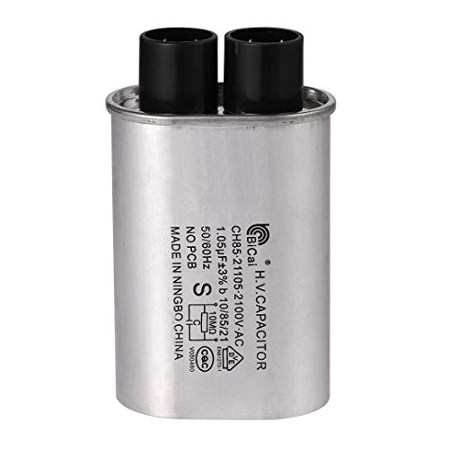 BlueNatHxRPR 1/4 in 1.05 MFD uF Universal Microwave Capacitor Compatible for GE Samsung LG Media Hair Amana Kenmore Mayta and Whirlpool